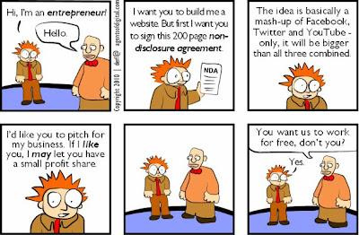 Entrepreneur cajoling for cheap help