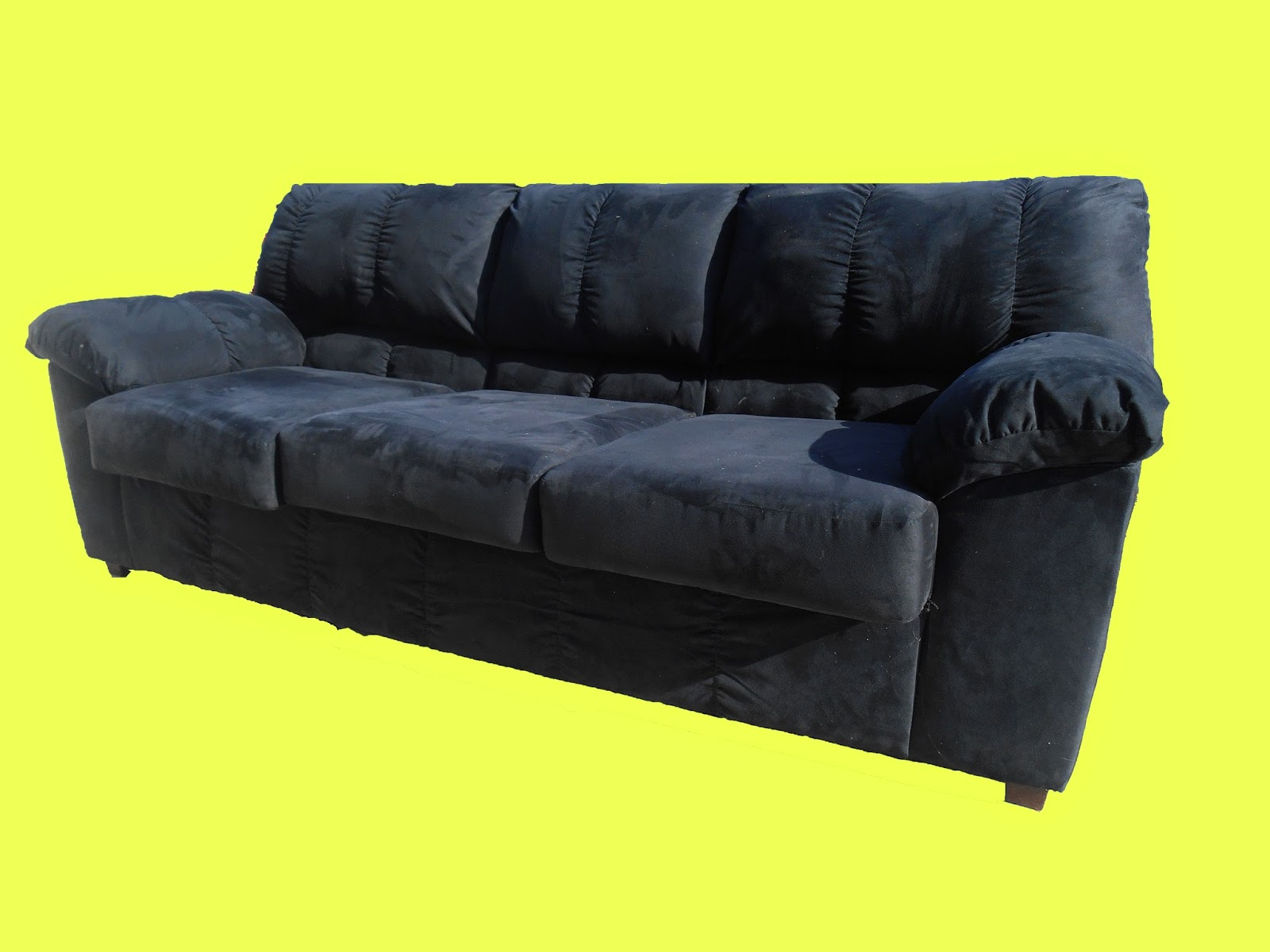 Uhuru Furniture Collectibles Black Microfiber Sofa Sold