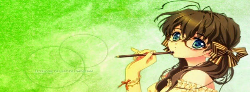 Wonderful Girl Anime Picture Best Collection Of Nice Wallpaper Awesome Young With Glasses Stylish Facebook Cover Photos