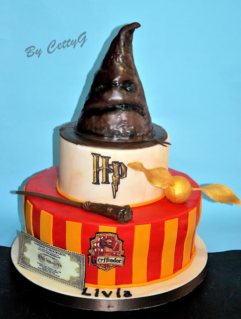 le torte decorate di cetty g harry potter cake. Black Bedroom Furniture Sets. Home Design Ideas