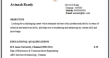 Awesome Technical Skills In Resume For Ece Ideas - Simple resume .