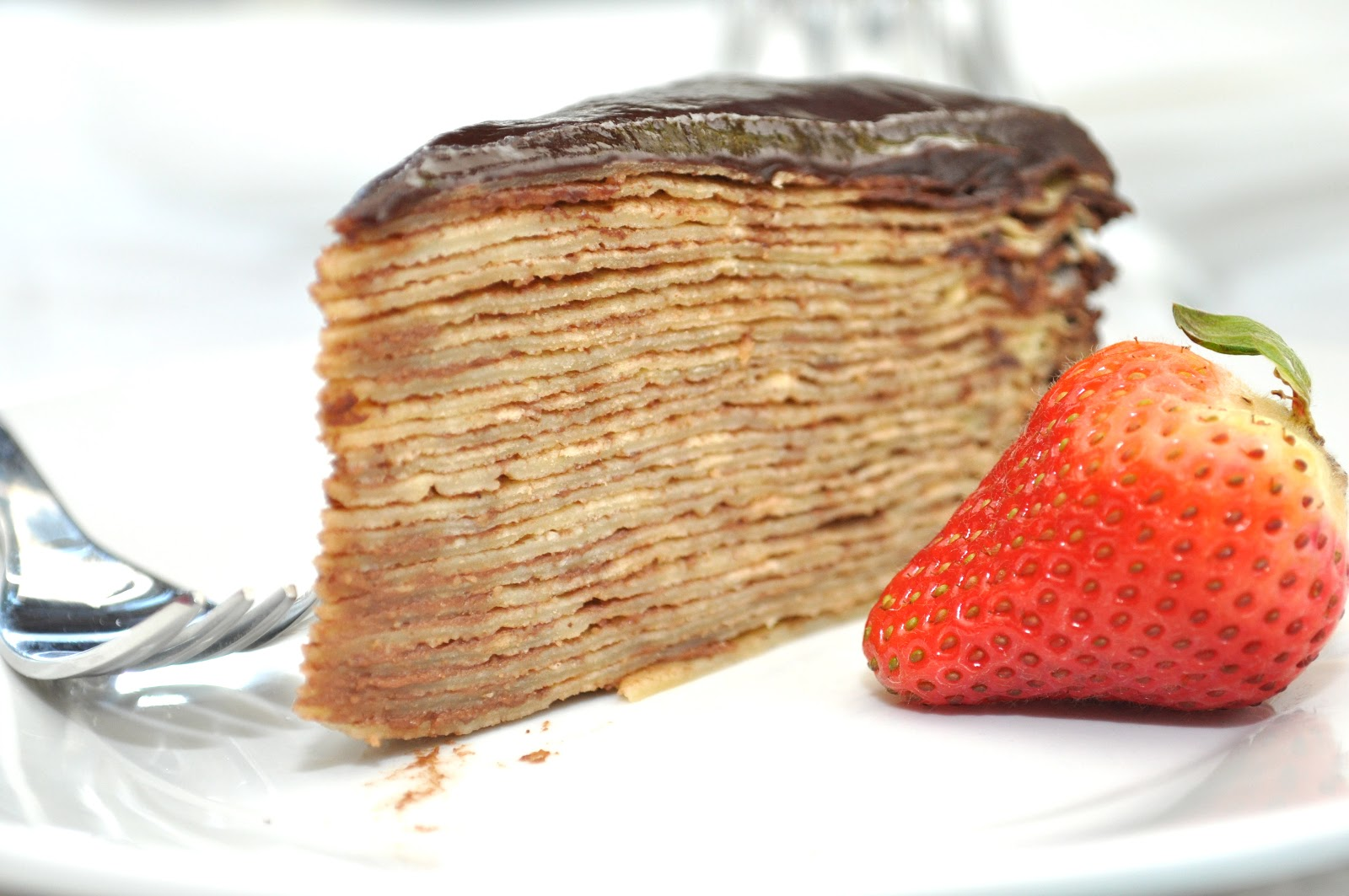 Carina M Creations: Nutella Crepe Cake with Chocolate Ganache