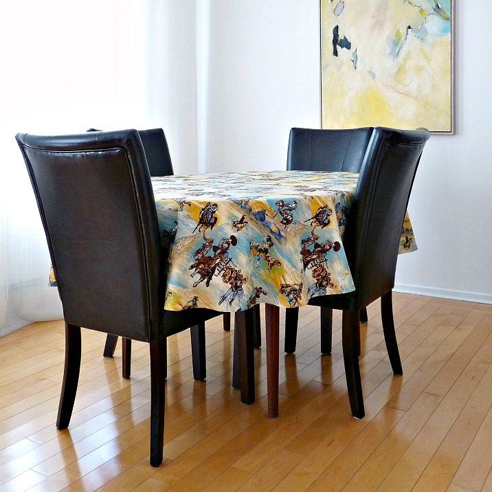 diy oval table cloth