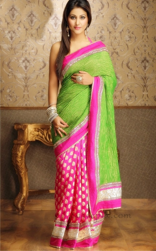 Hina-khan-saree-lehenga-photos