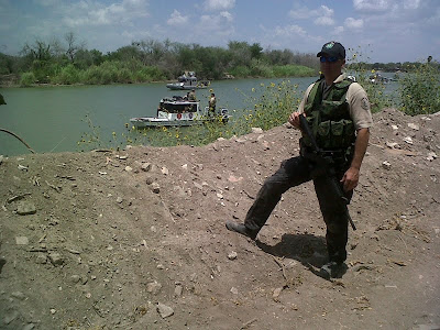 Ellis assists Homeland Security along the Rio Grande River in Hidalgo.