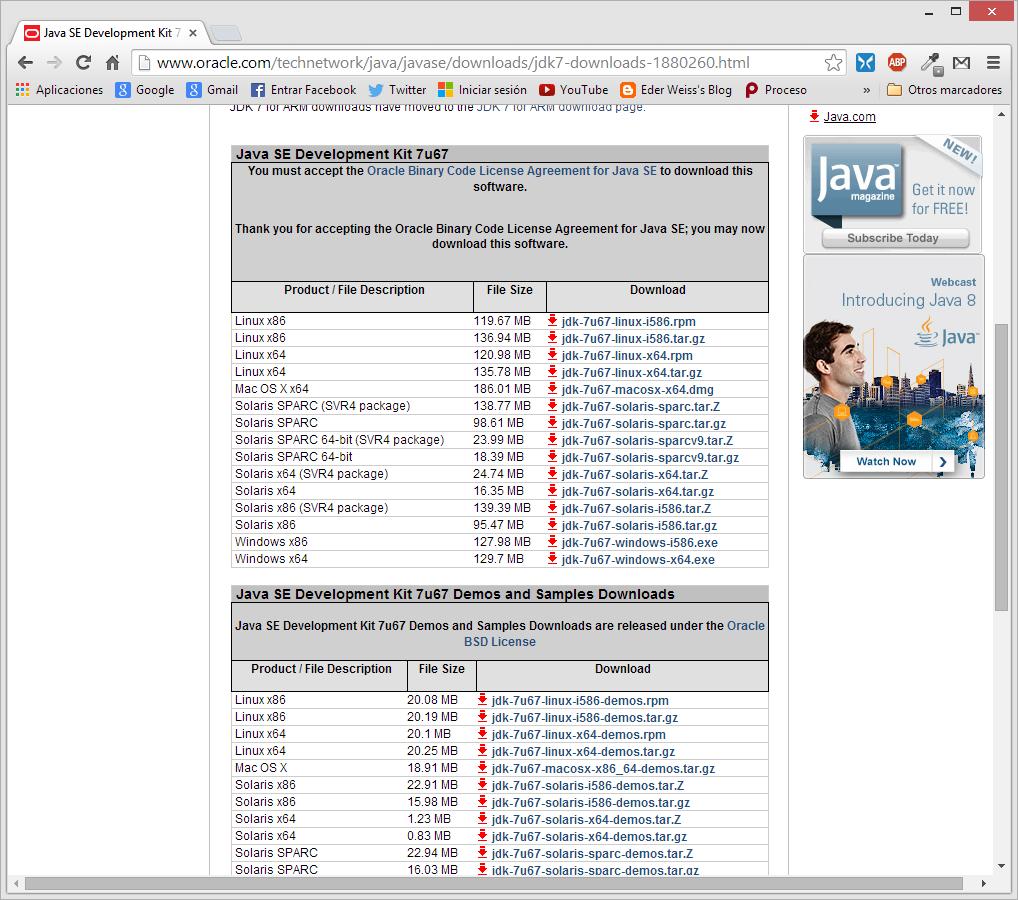 Java development kit, download gr
