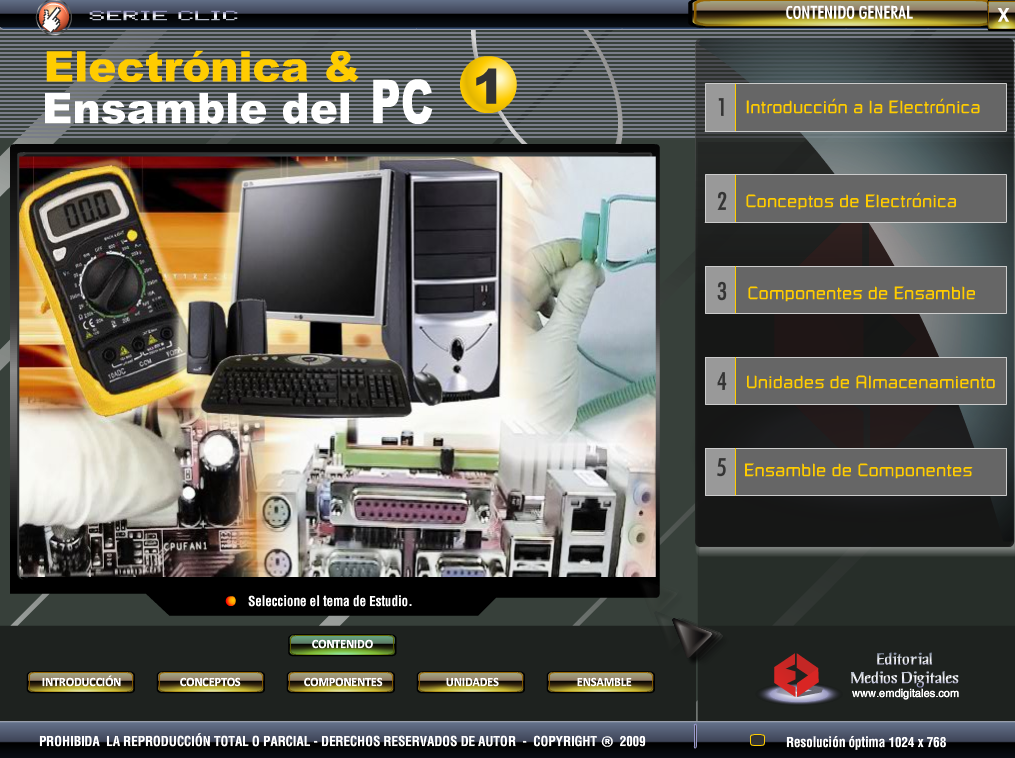 Curso Multimedia Electronica y Ensamble de Pc-Mega-Iso
