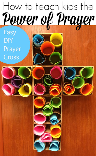 Easy breezy sunday school prayer cross for Children s church lessons crafts