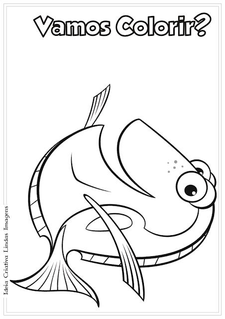 Procurando o Nemo Dory desenho para colorir