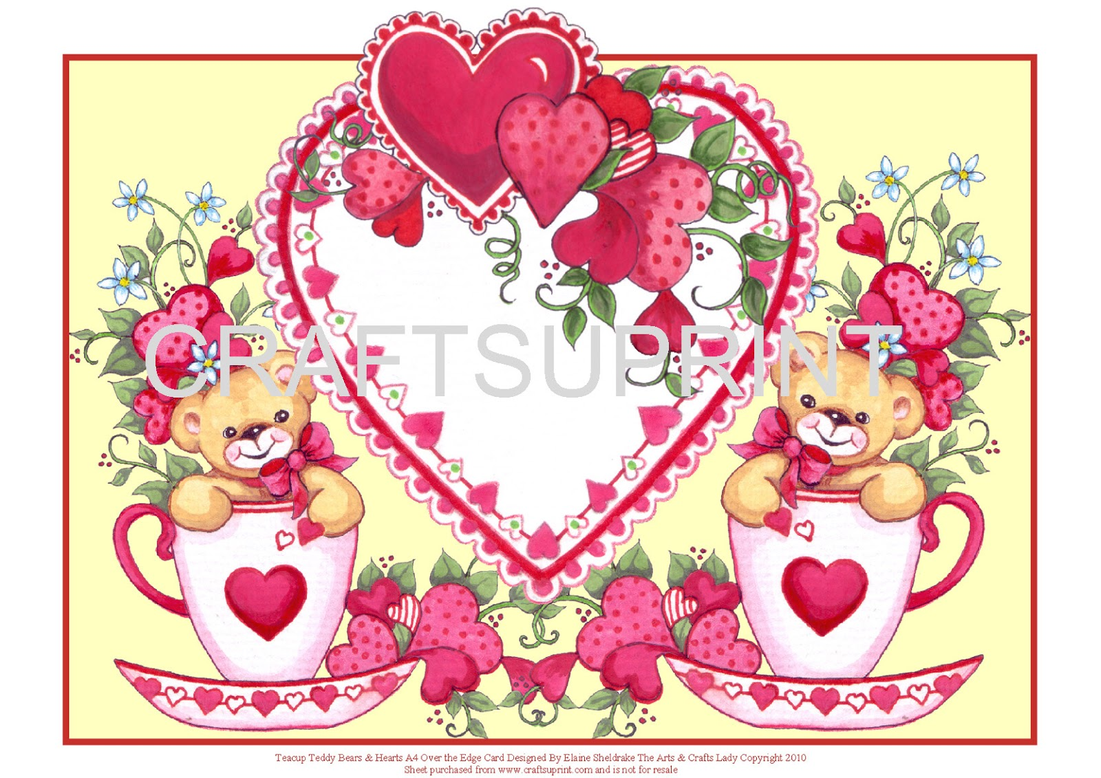 elaine sheldrake the arts and crafts lady valentine u0027s day card