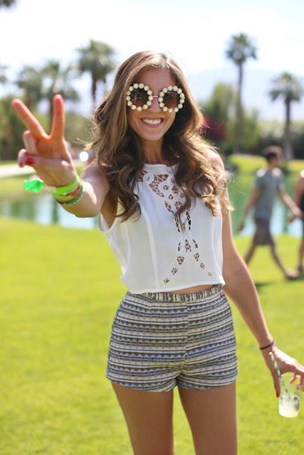 Coachella Festival Street Style 2013 Sunglasses