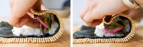 Cách làm cơm cuộn rong biển
