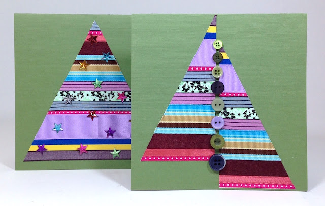 ribbon tree greeting card lisa fulmer