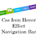 Css Icon Hover Effect Navigation Bar For Blogger