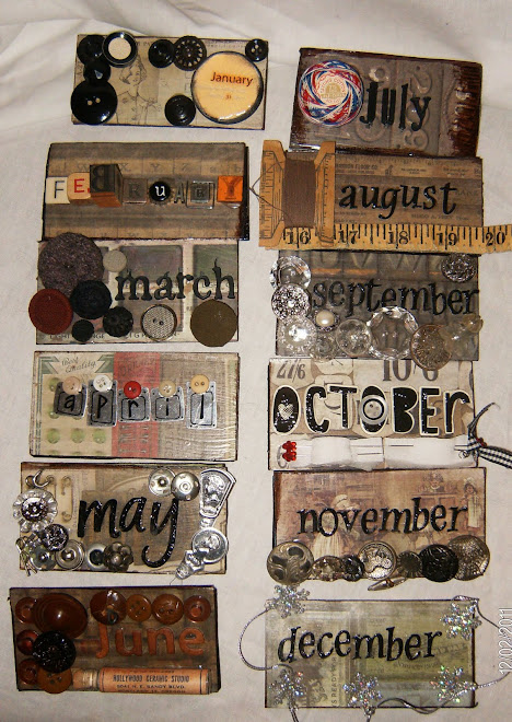 "months for the ""Vintage Buttons"" calendar"