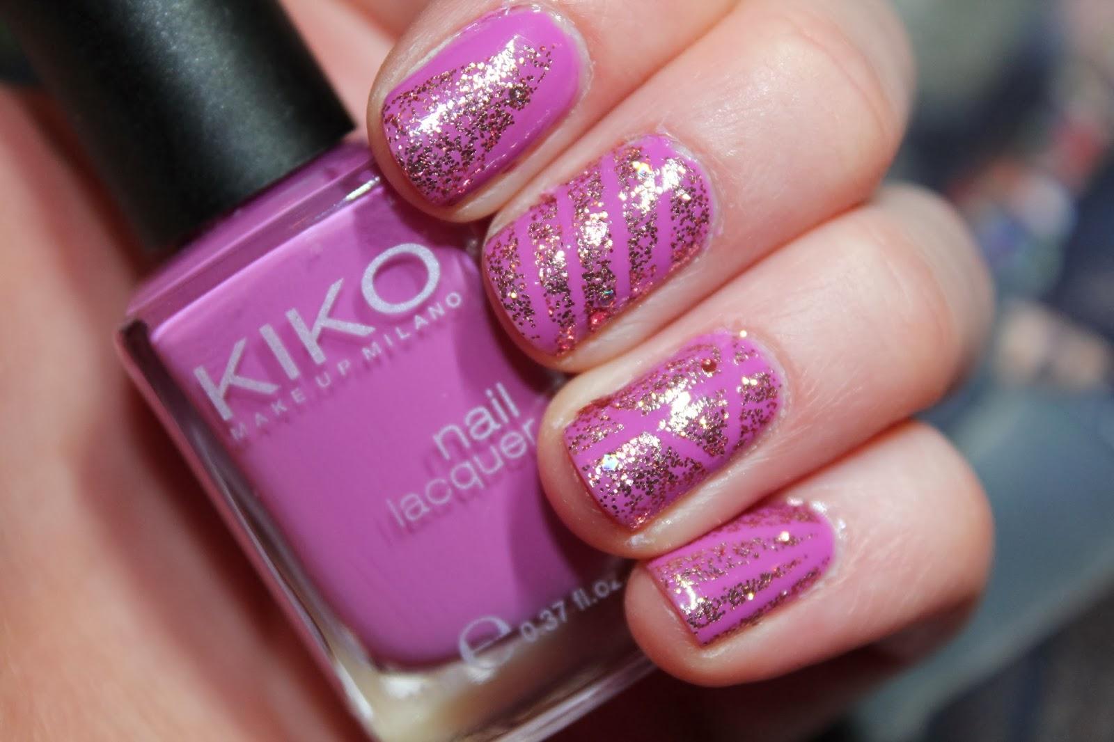 kiko-nicole-opi-nail-varnish-polish-pink-glitter-sparkle