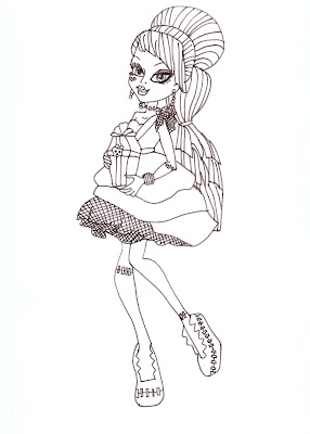 Monsters High Frankie Coloring Pages