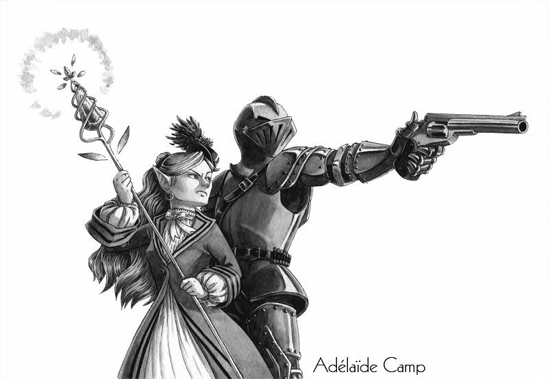 Ad la de camp illustratrice elfle magicienne et - Dessin armure ...