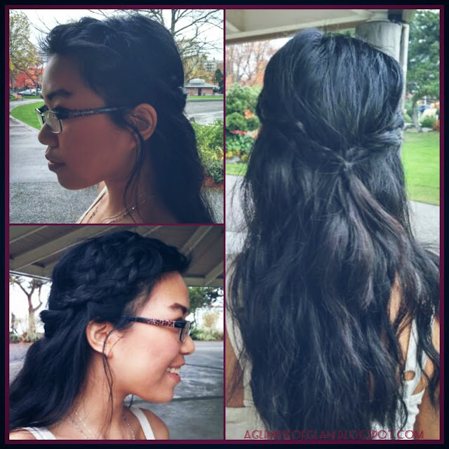 easy braided half-up hairstyle