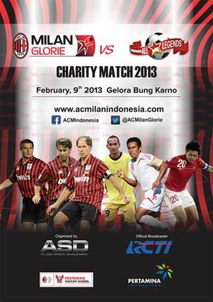 Susunan Pemain Dan Harga TIket AC Milan Glorie VS Indonesia All Star 2013