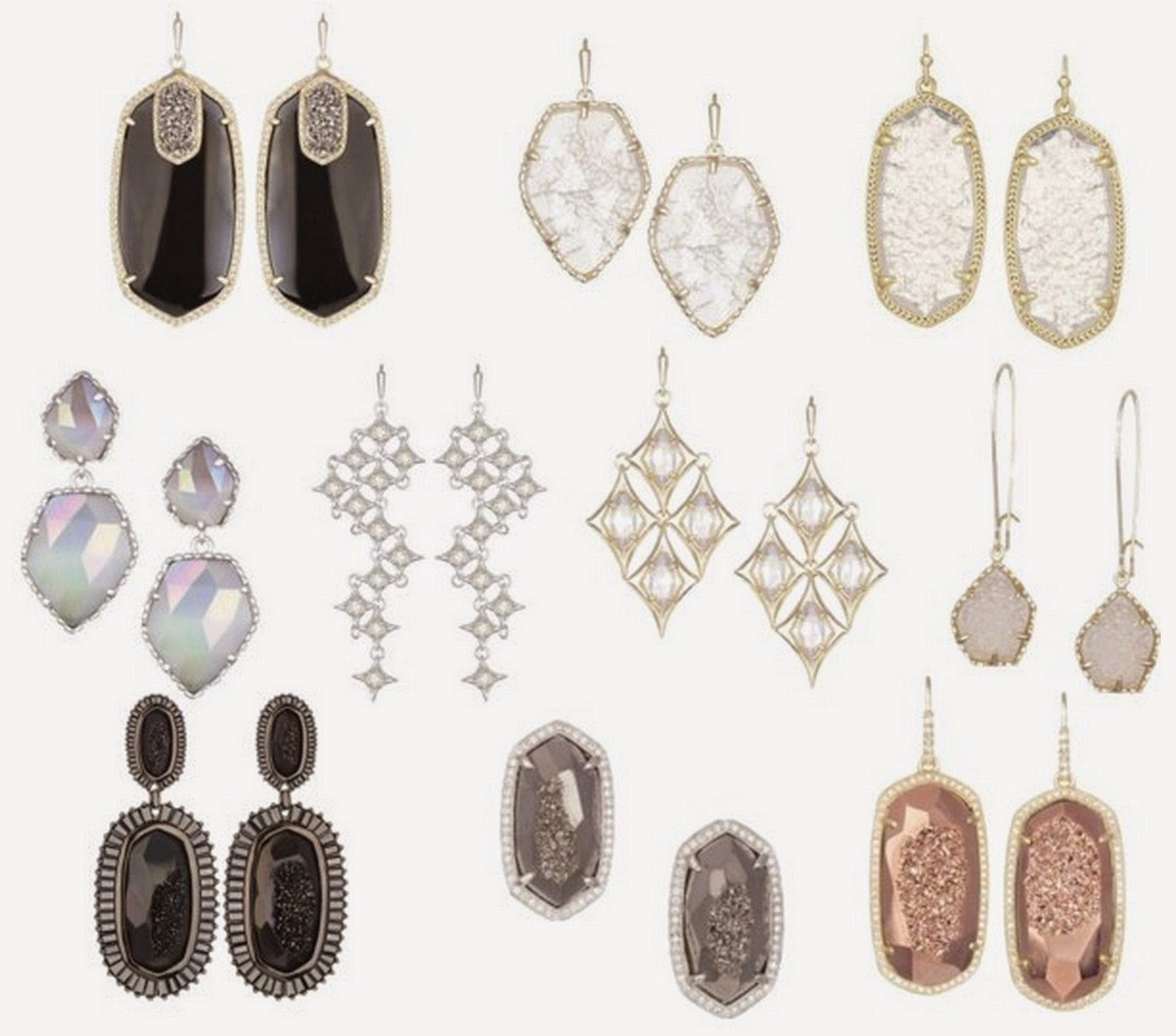 Live life in style picks trina turk elaine turner kendra scott quincy silver delicate earrings nova statement earrings cathy iridescent earrings taryn chandelier earrings arubaitofo Images