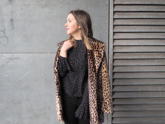 Leopard Print Coat Mango