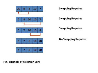 Selection Sort Program and it's example