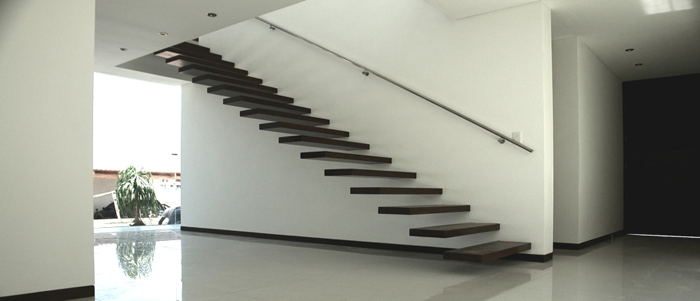 Casas minimalistas y modernas escaleras interiores - Escaleras para interior de casa ...