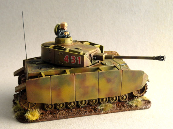 28mm, 1/56th. 1:56, PzKpfw IV Aufs. H with schurzen, Herman Goering Division, 1944, Italy, Warlord Games, Company B, Westwind Miniatures