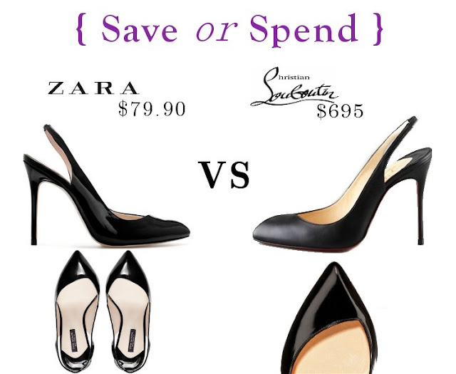 Save Or Spend { Zara Vs Louboutin }