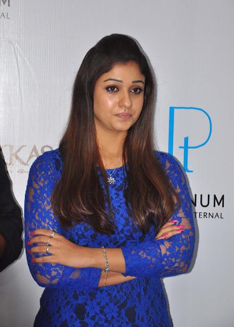 Nayanthara Unveils Platinum Jwellery Photo Gallery