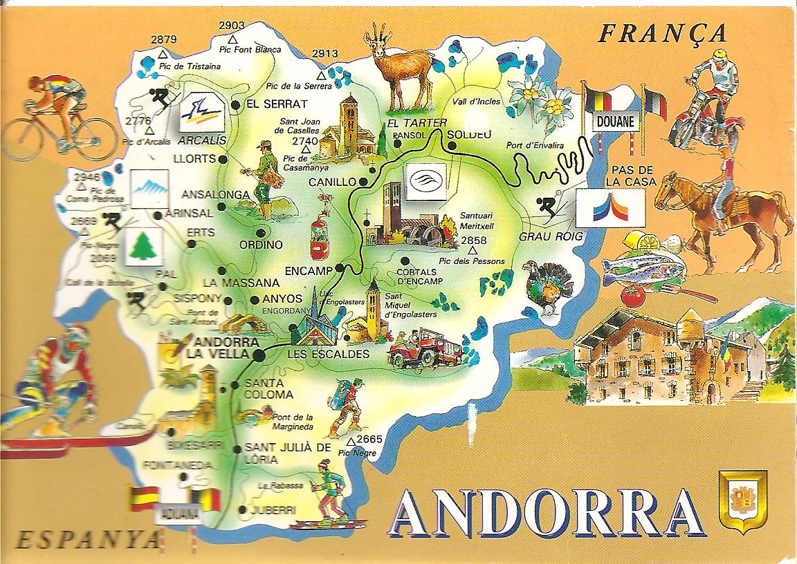 MY POSTCARDPAGE ANDORRA Map