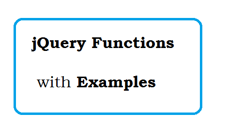 jQuery Function with Examples