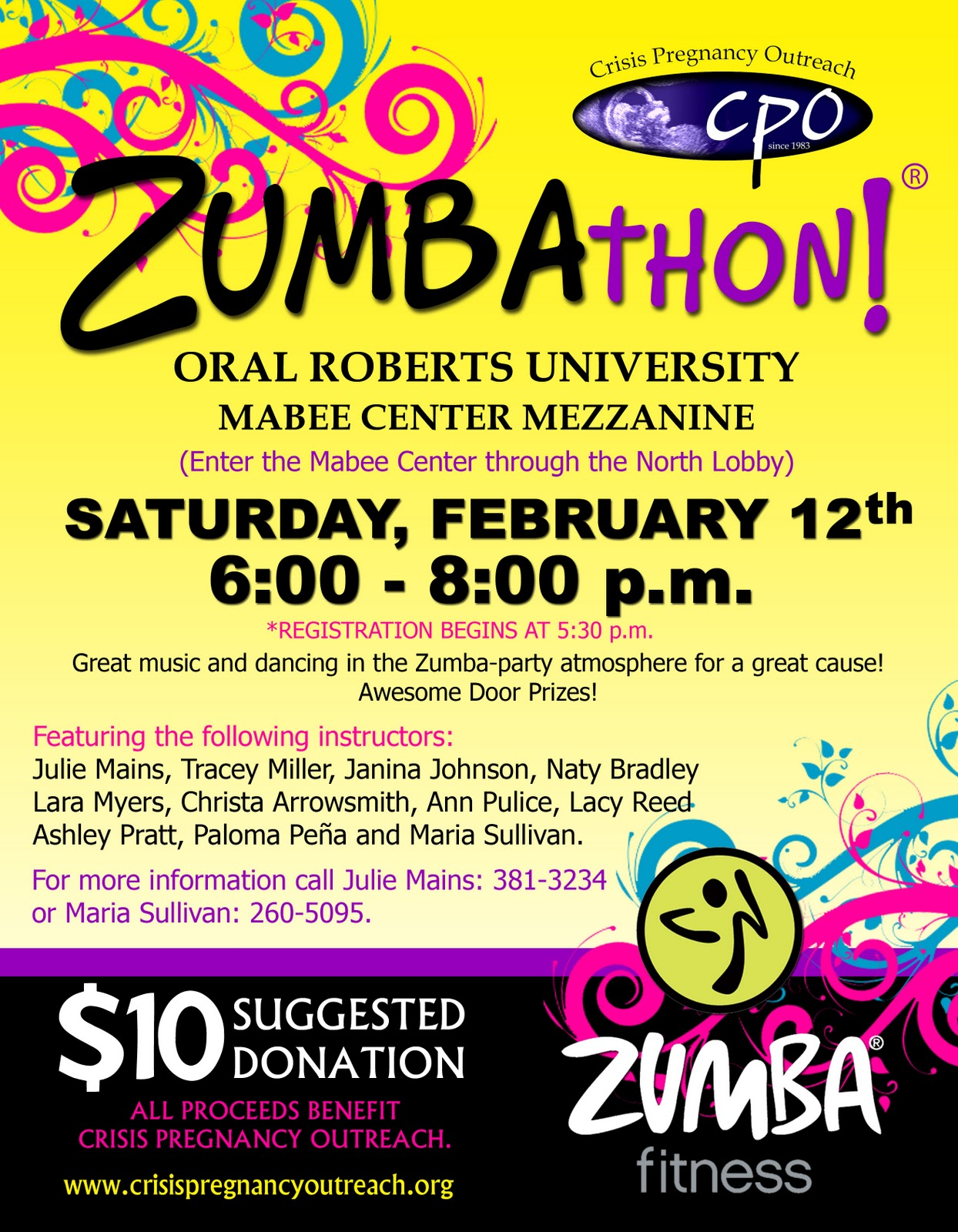 Crisis Pregnancy Center Zumbathon February 12Zumbathon Flyer