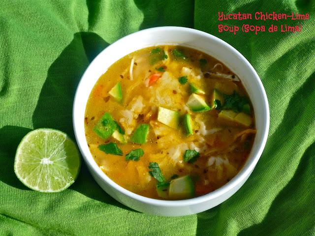 The Weekend Gourmet: Souper #SundaySupper...Featuring Yucatan Chicken-Lime Soup (Sopa de Lima)