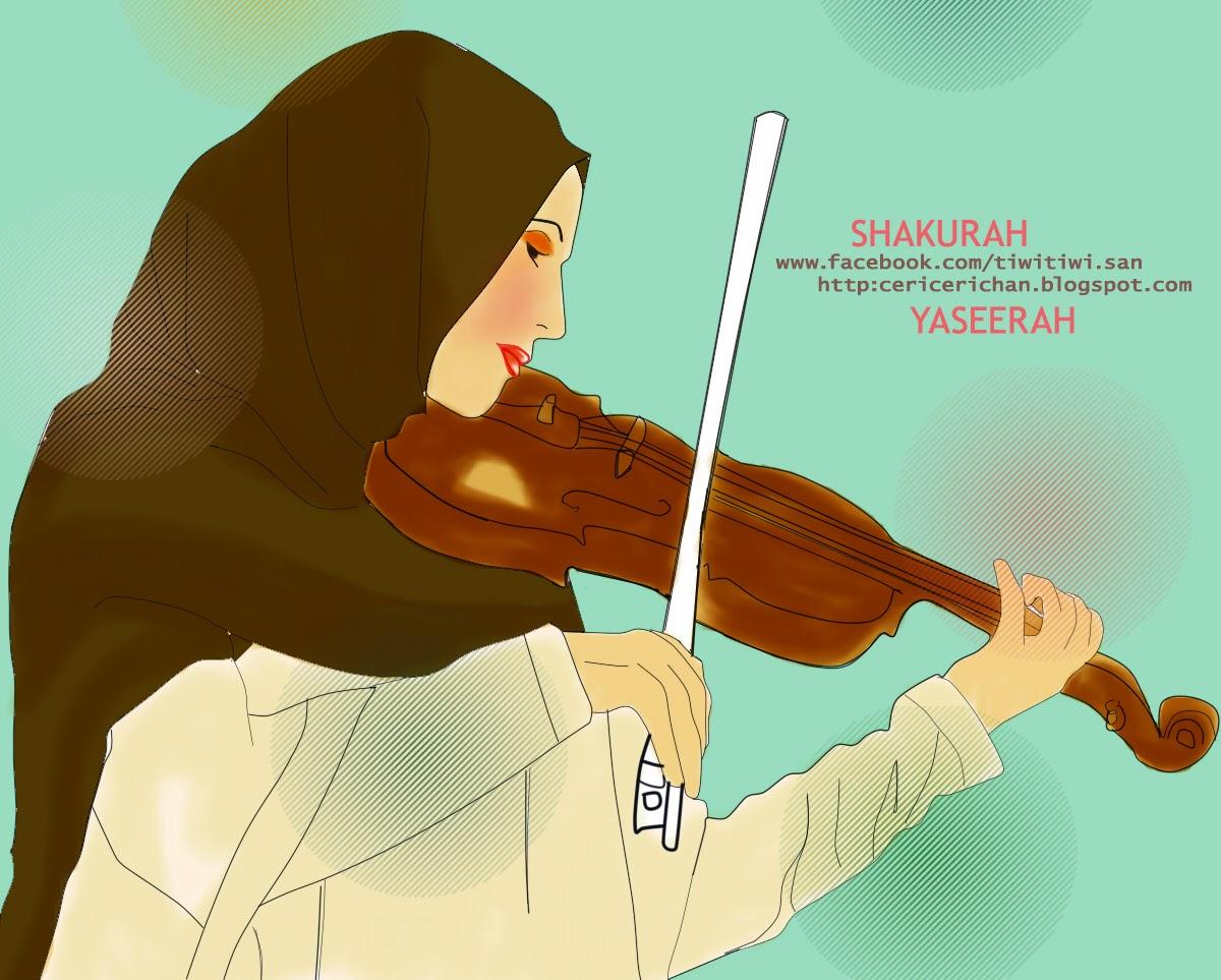 muslimah, music, play, violin, shakurah, yaseerah