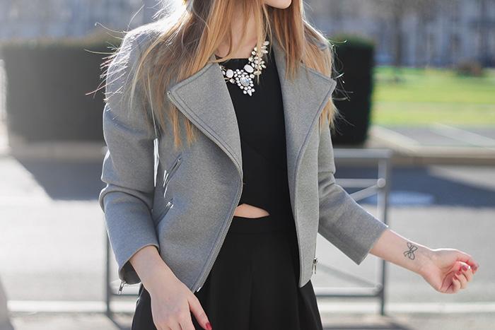 mintymeetsmunt grey biker jacket