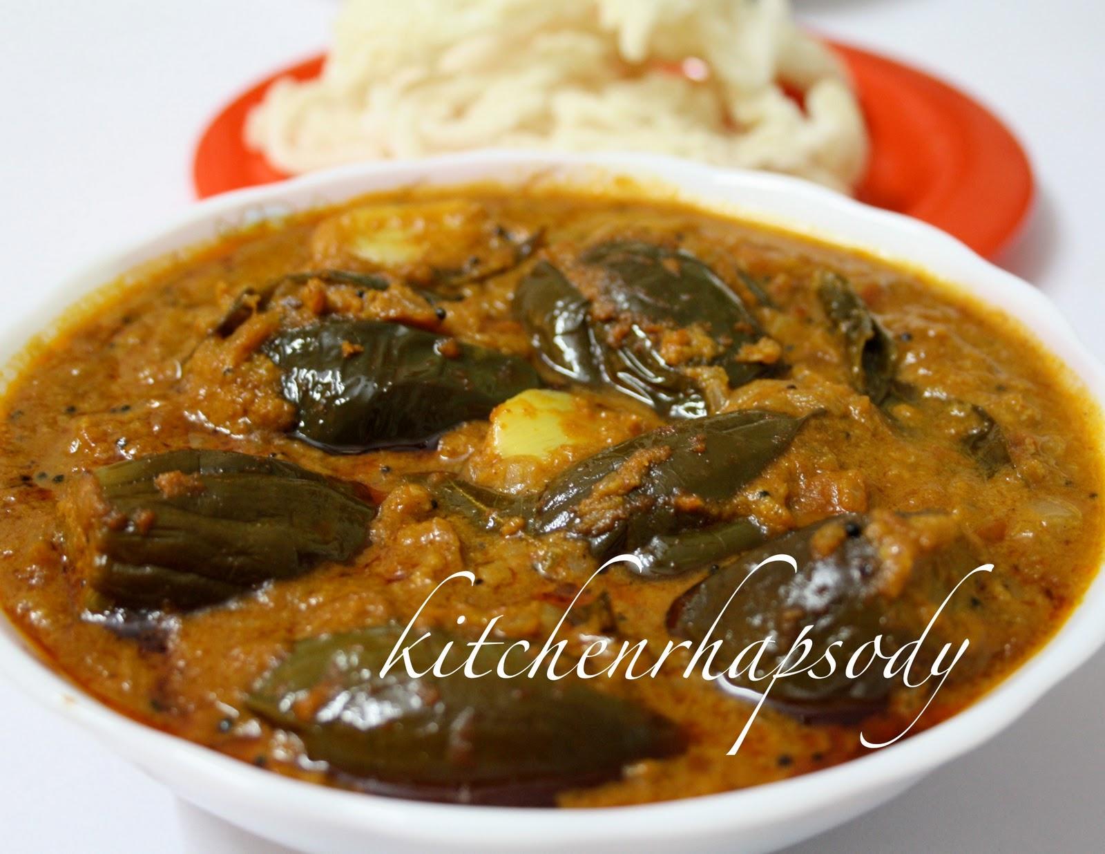 KITCHEN RHAPSODYEnnai kathirikkai KuzhambuEggplant Curry