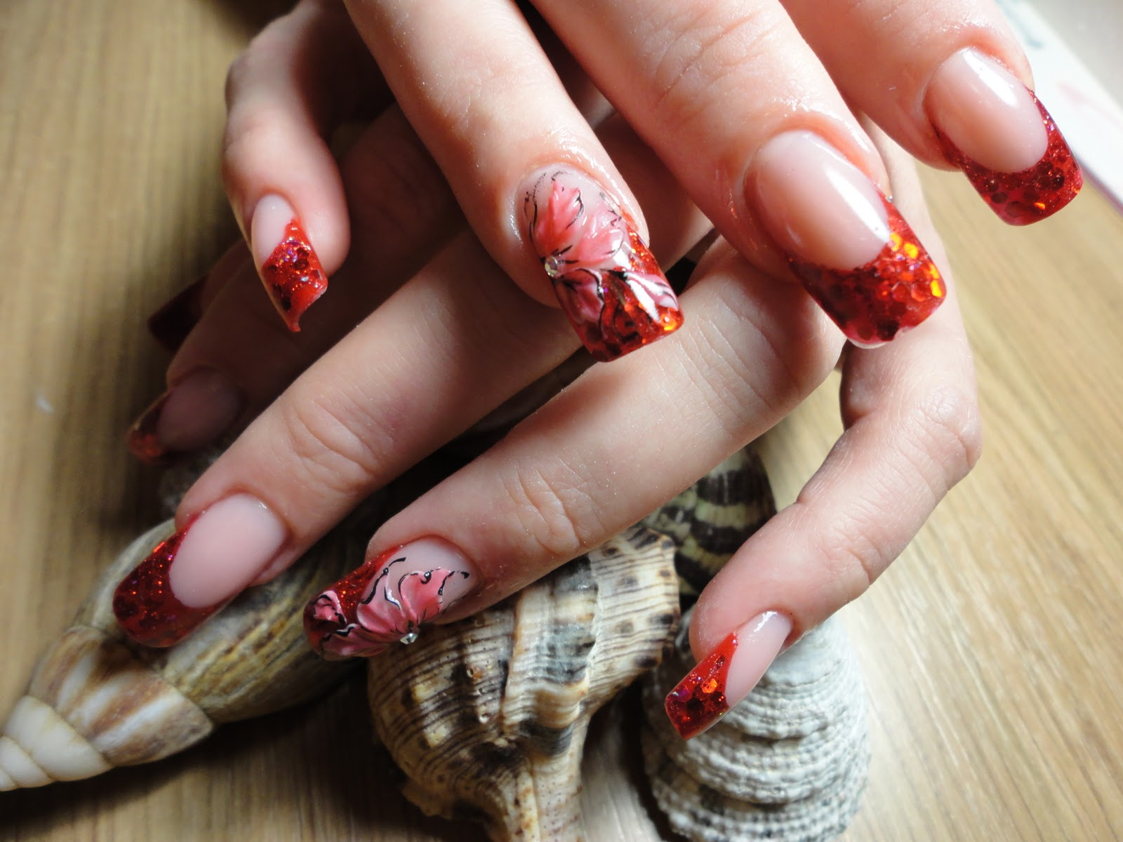 Acrylic Nails: Painted acrylic nails by Natalia