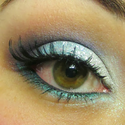 new years eve look inspired by disney frozen using lit cosmetics glitter