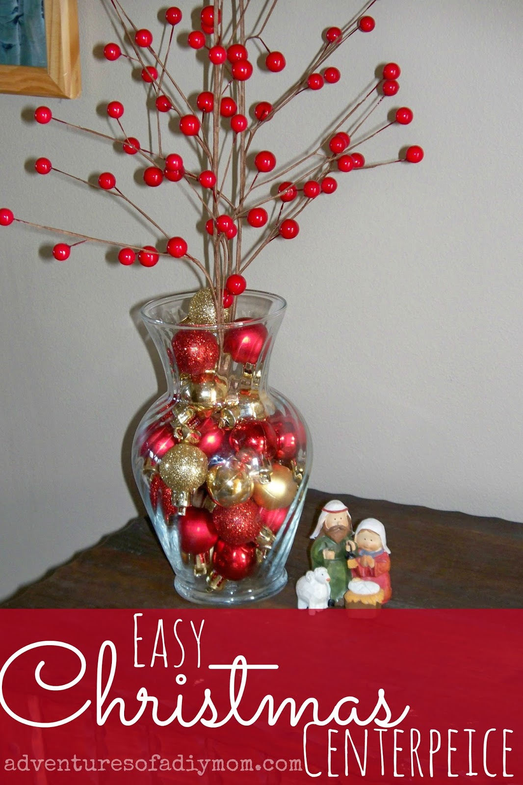 Easy Christmas Centerpiece Adventures Of A Diy Mom