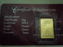 Emas bar Fine Gold 20g