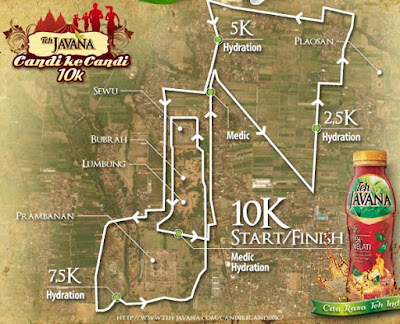 Rute Teh Javana Candi Ke Candi 10K 2015, 5K lomba lari klaten jawa tengah candi prambanan