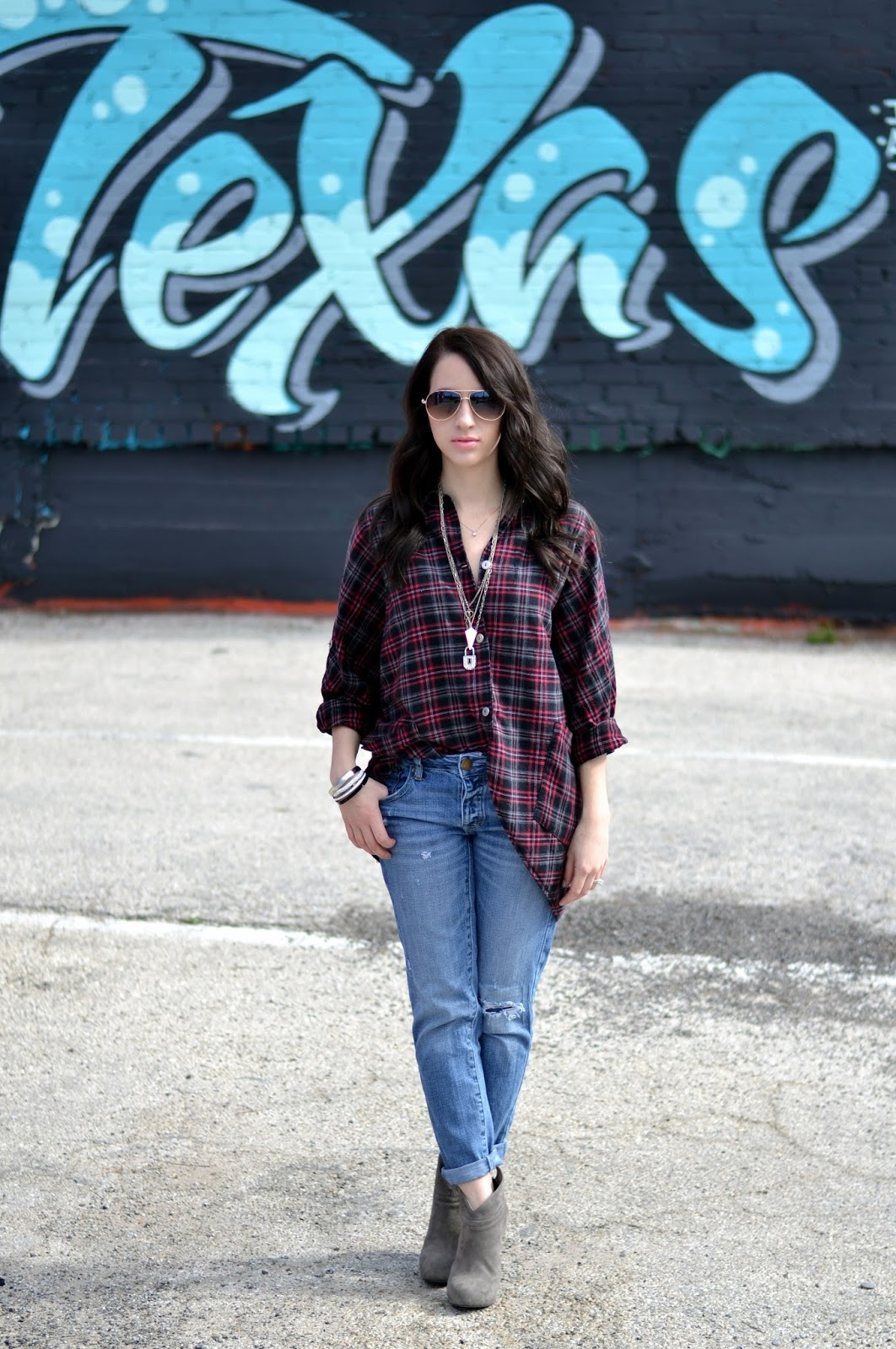Casual oversized flannel.