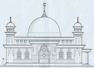 Kumpulan Gambar Gambar Vector Masjid Untuk Mewarnai 3