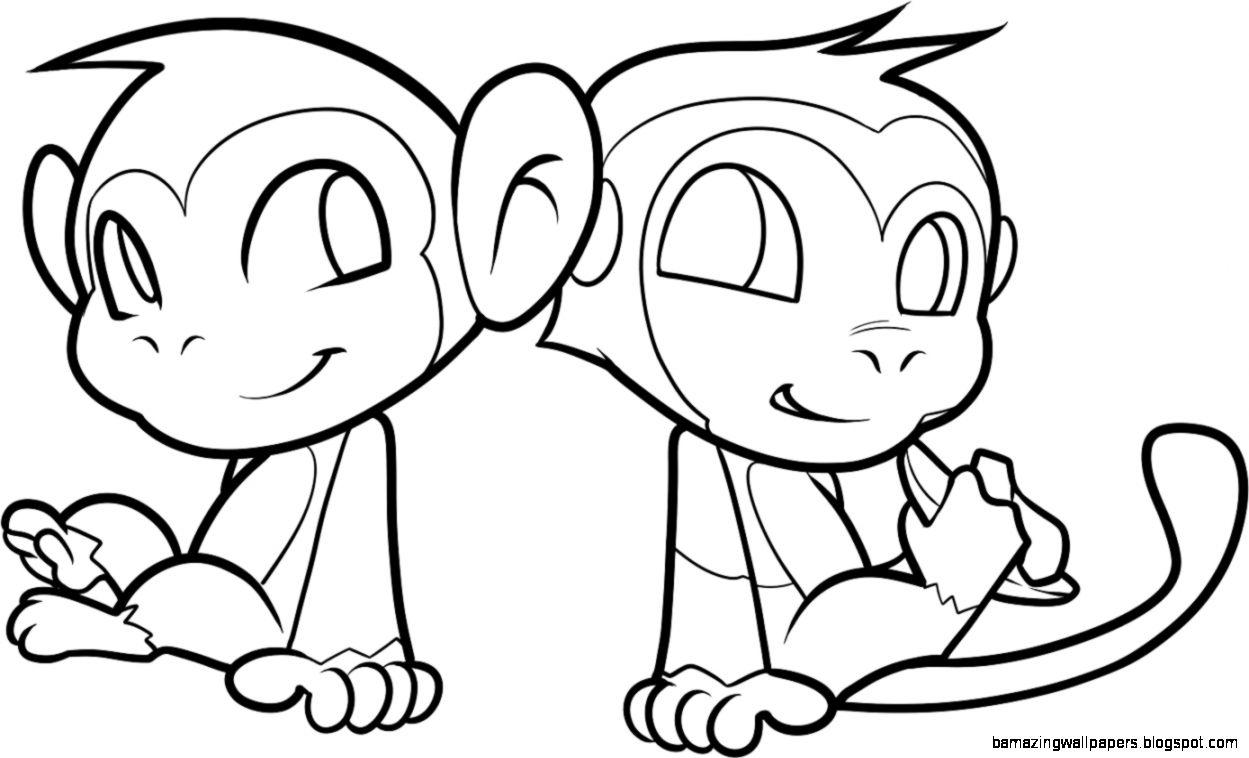 Kids Baby Monkey Drawings