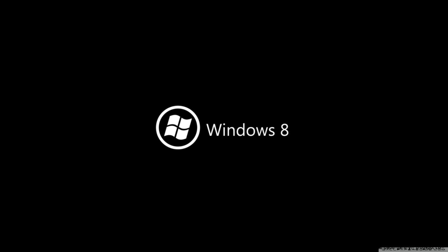 Windows 8 On Black HD desktop wallpaper  High Definition