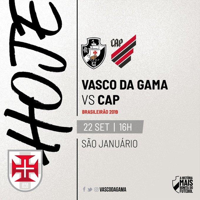 22 de setembro, 20h: São Januário