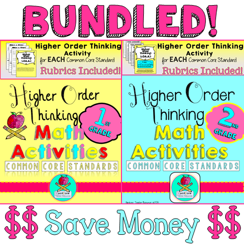 http://www.teacherspayteachers.com/Product/BUNDLE-First-Second-Grade-Higher-Order-Thinking-Math-Activities-Common-Core-1380051