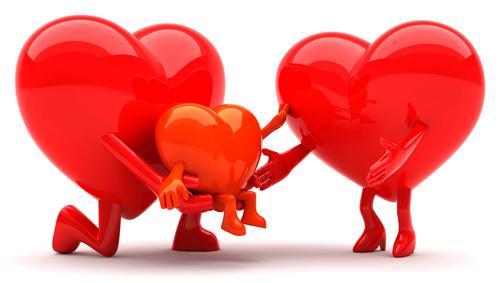 Heart family icons
